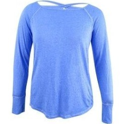 DKNY Women's Sport Cutout Thumbhole Top (L), Blue(cotton) found on Bargain Bro India from Overstock for $13.75
