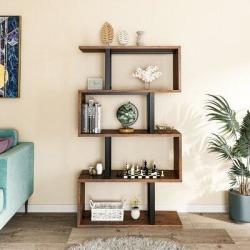 17 Stories S-Shaped Z-Shelf Bookshelves & Bookcase in Brown, Size 57.0 H x 31.5 W x 11.8 D in | Wayfair 0183FD3B56F94255A96CEF4C2259628E found on Bargain Bro Philippines from Wayfair for $132.99