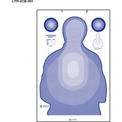 10 Pcs of Federal Us Air Marshal Service Transitional Cardboard Target Cardboard Modified Ltr-Ii Target Blue 24. 5