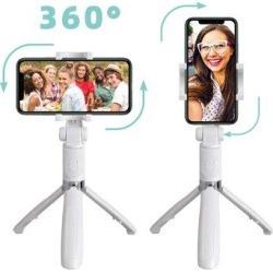 TianRan Tripod Selfie Stick, Bluetooth Wireless Selfie Stick, Retractable, Detachable Remote Control, Multi-Function Selfie Stick. | Wayfair in White found on Bargain Bro Philippines from Wayfair for $61.99