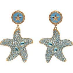 Blue Trésor De La Mer Starfish Drop Earrings - Blue - Versace Earrings found on Bargain Bro from lyst.com for USD $722.00