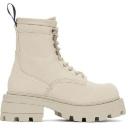 Off-white Canvas Michigan Boots - Natural - Eytys Boots found on Bargain Bro Philippines from lyst.com for $350.00
