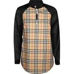 Brown Vintage Check Panelled Blouse - Brown - Burberry Tops found on Bargain Bro India from lyst.com for $620.00