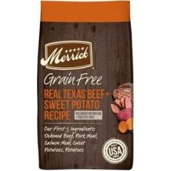 Merrick Real Texas Beef + Sweet Potato Recipe Grain-Free Adult Dry Dog Food, 10-lb bag