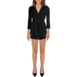 Adelyn Rae Womens Romper Woven Pleated - Black (L), Women's(polyester) found on MODAPINS from Overstock for USD $32.69