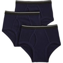 Men's John Blair® Classic Cotton Briefs 3-Pack, Navy Blue XL found on Bargain Bro from Blair.com for USD $12.91