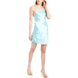 Dannijo Ruched Silk Mini Slip Dress (4), Women's, Blue found on MODAPINS from Overstock for USD $186.99