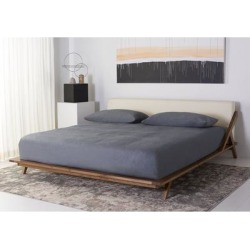 Safavieh Couture Devyn Wood Platform Bed found on Bargain Bro from Overstock for USD $995.59