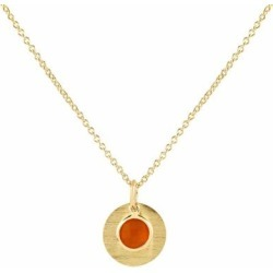 Bali 9ct Gold July Birthstone Necklace Carnelian - Metallic - Auree Jewellery Necklaces found on Bargain Bro Philippines from lyst.com for $709.00