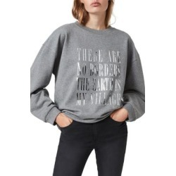 Freedom Iona Graphic Sweatshirt - Gray - AllSaints Sweats found on Bargain Bro Philippines from lyst.com for $55.00