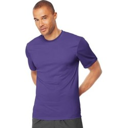 Hanes Cool DRI TAGLESS Men's T-Shirt (Purple - XS) found on Bargain Bro India from Overstock for $17.14