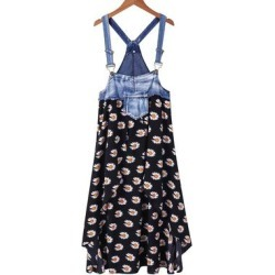 Camisa Women's Casual Dresses Black - Black Daisy Overall-Strap Shift Dress - Women found on Bargain Bro from zulily.com for USD $20.51