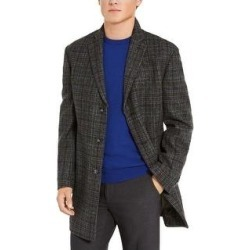 Calvin Klein Mens Top Coat Wool Blend Slim Fit - Grey (42S), Men's, Gray found on Bargain Bro Philippines from Overstock for $61.59