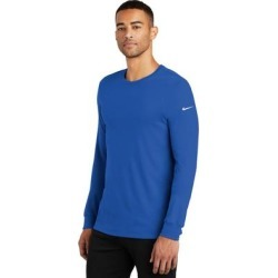 Nike Men's DRI-FIT Cotton/Poly Long Sleeve T Shirt found on Bargain Bro from Overstock for USD $30.39