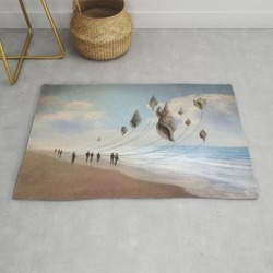 Floating Giants Modern Throw Rug by Christian Schloe - 2' x 3' found on Bargain Bro from Society6 for USD $26.07