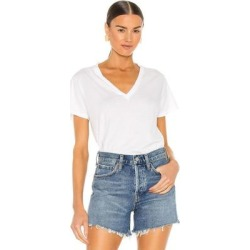 Thea V Neck T Shirt - White - Agolde Tops found on Bargain Bro India from lyst.com for $58.00