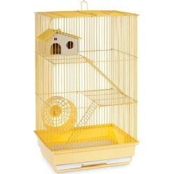 Prevue Pet Products Three Story Yellow Small Animal Cage, 14.5
