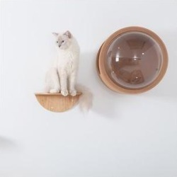 MyZoo Lack Round Wooden Wall Mounted Cat Shelves, 2 count found on Bargain Bro from Chewy.com for USD $55.48