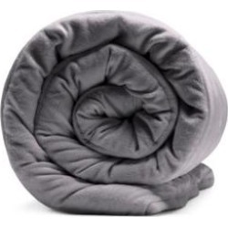 Sealy Grey Soft Plush 12 lb Quilted Weighted Blanket