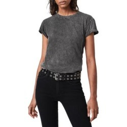 Anna Crewneck T-shirt - Black - AllSaints Tops found on Bargain Bro from lyst.com for USD $44.84