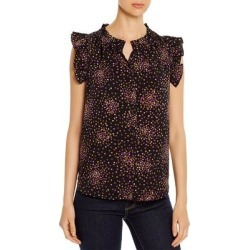 Kate Spade Womens Disco Dots Shell Blouse Polka Dot Flutter Sleeves Black M found on MODAPINS from Overstock for USD $81.48