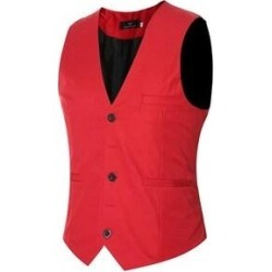 Men's V-Neck Sleeveless Vests Casual Slim Fit Skinny Top Designed Waistcoat (mj6 - X-Large)(cotton) found on Bargain Bro Philippines from Overstock for $42.08