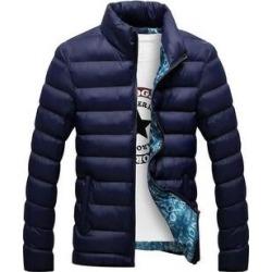 Man Down Coat Slim Warm Cotton Coat Dark Blue M (L), Men's found on MODAPINS from Overstock for USD $48.11