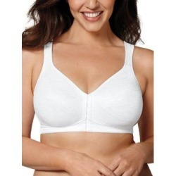 Women's Playtex 18-Hour Front Closure Posture Bra, White 42 DD found on Bargain Bro from Blair.com for USD $32.68