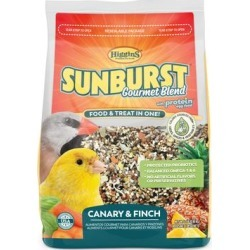 Higgins Sunburst Gourmet Blend Seed Canary & Finch Bird Food, 2 lbs. found on Bargain Bro Philippines from petco.com for $10.99