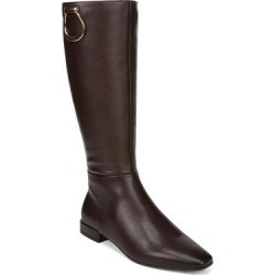 Naturalizer Women's Casual boots CHOCOLTEWC - Chocolate Carella Leather Wide-Calf Boot - Women found on Bargain Bro India from zulily.com for $49.99