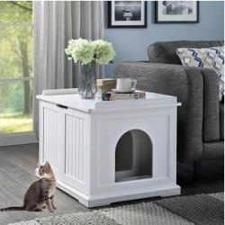 Unipaws Decorative Cat Litter Box Enclosure, White found on Bargain Bro Philippines from Chewy.com for $142.31