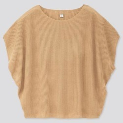 UNIQLO Women's Lacy Boat Neck Short-Sleeve Sweater, Beige, XS found on Bargain Bro Philippines from Uniqlo for $9.90