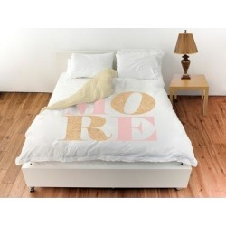 Oliver Gal 'Love More Romance'Duvet Cover (Twin), White, The Oliver Gal Artist Co. found on Bargain Bro from Overstock for USD $91.34