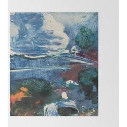 "Mini World Environmental Blues 2 Bed Throw Blanket by Anoellejay - 51"" x 60"" Blanket"