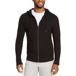 Alfani Mens Hoodie Black Large L Ribbed Cuff Terry Cloth Knit Full Zip (L), Men's found on MODAPINS from Overstock for USD $23.98