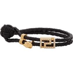 Black Gv Greca Bracelet - Black - Versace Bracelets found on Bargain Bro from lyst.com for USD $247.00