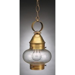 Northeast Lantern Onion 12 Inch Tall 1 Light Outdoor Hanging Lantern - 2022-AB-MED-CLR found on Bargain Bro from Capitol Lighting for USD $270.86