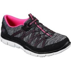 Women's The Gratis Sneaker by Skechers in Black Hot Pink Medium (Size 8 1/2 M) found on Bargain Bro India from Roamans.com for $44.99