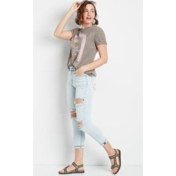 Vigoss® Womens High Rise Light Wash Slim Straight Cropped Jeans Blue - Size 31 - Maurices found on Bargain Bro from Maurices for USD $45.52