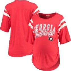 Georgia Bulldogs Touch by Alyssa Milano Women's Maternity Linebacker Half-Sleeve T-Shirt - Red found on Bargain Bro India from Fanatics for $39.99