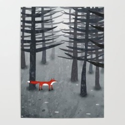 Art Poster | The Fox And The Forest by Nic Squirrell - 18