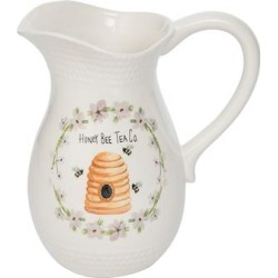 Transpac Pitchers - White Floral 'Honey Bee Tea Co.' Pitcher found on Bargain Bro Philippines from zulily.com for $14.99