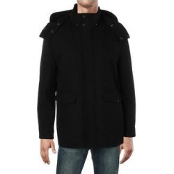 Cole Haan Men's Wool Blend Water Resistant Hooded Faux Fur Parka Coat - Navy (XXL), Blue found on MODAPINS from Overstock for USD $62.39