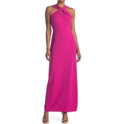 Sleeveless Twisted Neck Gown - Pink - Bebe Dresses found on Bargain Bro Philippines from lyst.com for $56.00