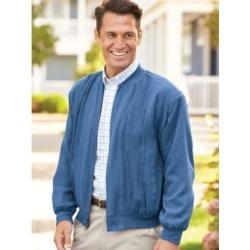 Men's John Blair Washable Silk Jacket, Cadet Blue 3XL Regular found on Bargain Bro Philippines from Blair.com for $41.97