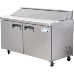 "Avantco APT-60-HC 60"" 2 Door Refrigerated Sandwich Prep Table"