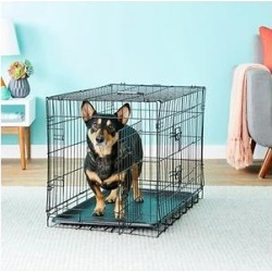Paws & Pals Oxgord Double Door Collapsible Wire Dog Crate, 30 inch found on Bargain Bro from Chewy.com for USD $27.18