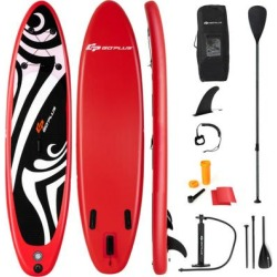 Costway 11' Inflatable Surfboard SUP with Adjustable Paddle Fin found on Bargain Bro Philippines from Costway for $269.95
