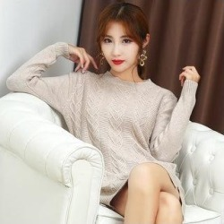 Autumn And Winter New Female Half-Neck Cashmere Bottoming Shirt (Camel - M), Women's, Brown found on Bargain Bro India from Overstock for $74.63
