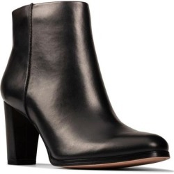 Clarks Kaylin Fern Bootie - Black - Clarks Boots found on Bargain Bro India from lyst.com for $130.00